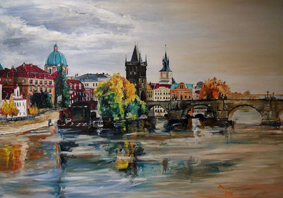 Prag, 100x70 cm, 2016 (Auftragsarbeit)