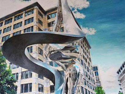 Im Beisheim Center, Potsdamer Platz, Berlin, 120x90 cm. 2021