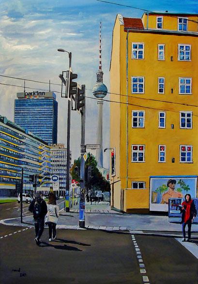 Prenzlauer Allee/Tortstraße, Berlin-Mitte, 70x100 cm, 2017