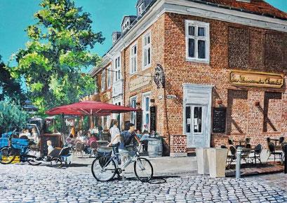 Im Holländerviertel (La Maison du Cocolat), Potsdam. 100x70 cm, 2021