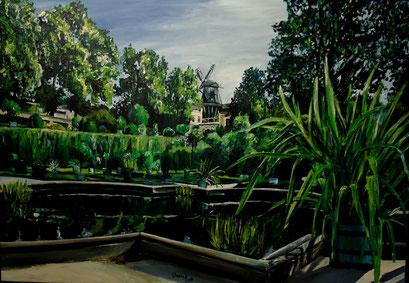 Im Sizilianischen Garten, Potsdam Sanssouci, 100x70 cm, 2016