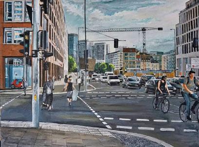 In der Leipziger Straße, Berlin-Mitte, 120x90 cm, 2021
