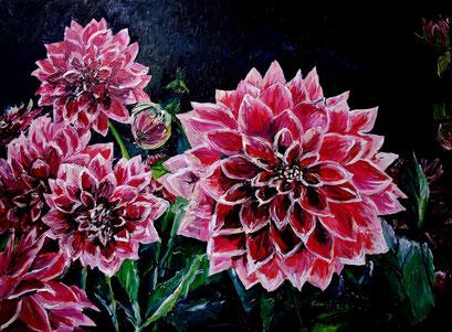 Dahlienblüte II, 80x60 cm, 2016