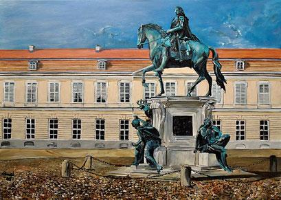 Reiterstandbild des Großen Kurfürsten, Schloss Charlottenburg, 70x50 cm, 2017