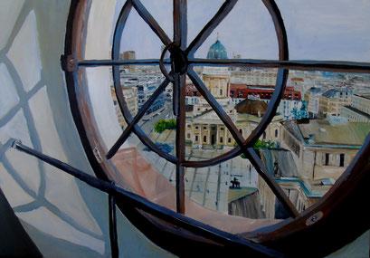 Gendarmenmarkt, Blick aus den Turm des Franz. Dom, 100x70cm, 2011 (verk.)