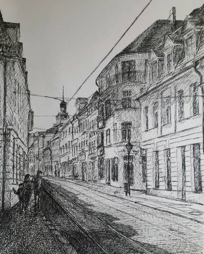 Hauptstraße, Brandenburg an der Havel, 50x70 cm, 2021