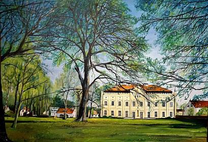 Schloss und Park Nennhausen, Havelland, 100x70 cm, 2018 (Auftragsarbeit)