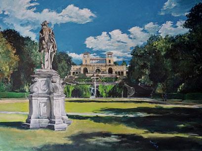 Im Park von Sanssouci, Orangerie, 120x90 cm, 2019