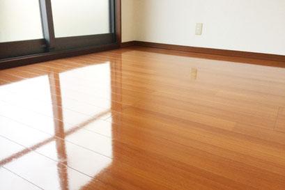 フローリング床の洗浄クリーニング&ワックス掛け|お掃除ハウス新潟【阿賀野市】