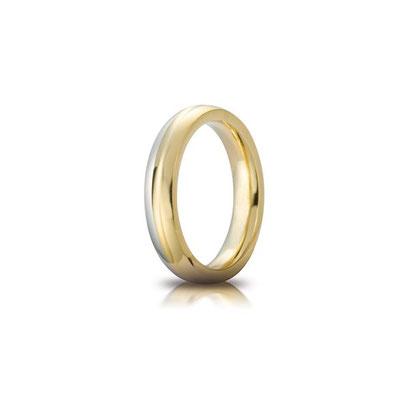 Cerchio di luce bicolore con diamante