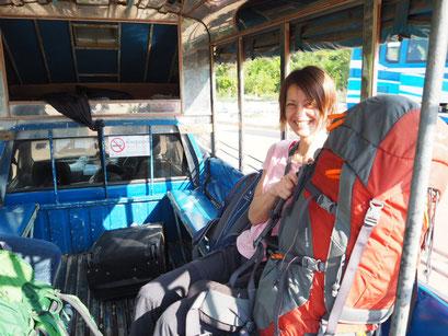 Das Tuk Tuk von der Bussstation an der Grenze zum Grenzübergang organisierte Sam
