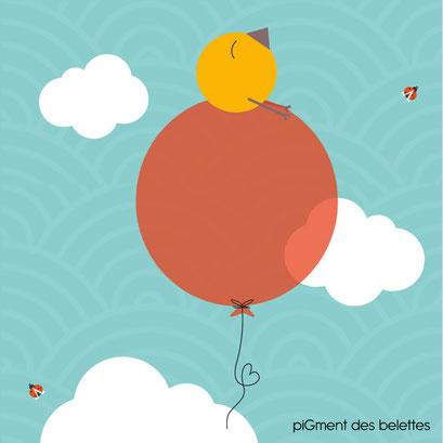 Histoire pour tout-petit : Piou rêve de s'envoler... perché sur un balon