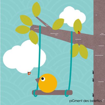Histoire pour tout-petit : Piou rêve de s'envoler... sur une balançoire