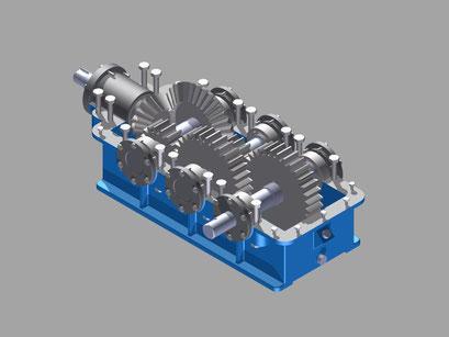catalogo despiece para recambios caja reductora Tital: engranajes, eje, rueda, rodamiento. Reductor Titan.