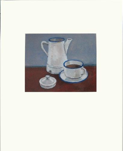 11 Weiße Kanne mit Tasse