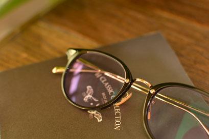 フレーム:BJ CLASSIC COLLECTION COM-510N NT  税抜32,000円 レンズ:Ito Lens ネオコントラスト160 税抜23,000円 仕上がり価格 税抜55,000円