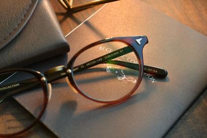 フレーム:BJ CLASSIC COLLECTION COM-510NA BT 税抜32,000円 レンズ:HOYA 1.60薄型非球面レンズ 税抜8,000円 仕上がり価格 税抜40,000円