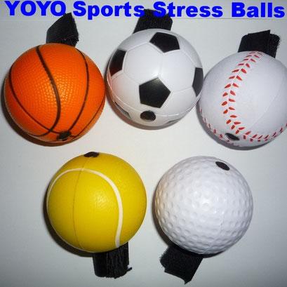 BCs-130101 YOYO Sports Stress Balls (Basketball, Soccer Football, Baseball, Tennis Ball, Golf Ball)