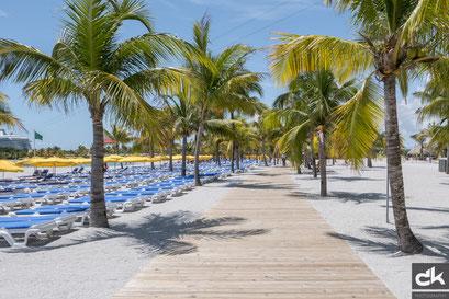 Strand von Harvest Caye
