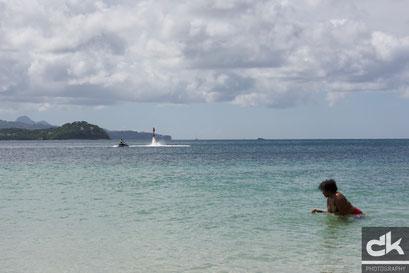Strandleben an der Rodney Bay