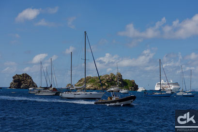 Im Hafen von Gustavia, St. Barth
