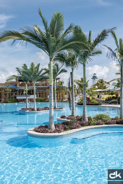 Pool auf Harvest Caye