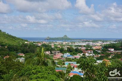 Blick in den Norden von St. Lucia