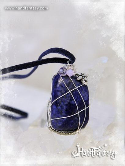Colgante Lapislázuli, Piedra azul, Colgantes de Lapislázuli, collar de piedra azul, Colgantes de Lapislázuli, piedra de Lapislázuli, Collar de Lapislázuli