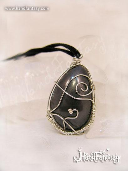 Colgante Hematite, Piedra negra, Colgantes de Hematite, collar de piedra negra, Colgantes de Hematite, piedra de Hematite, Collar de Hematite