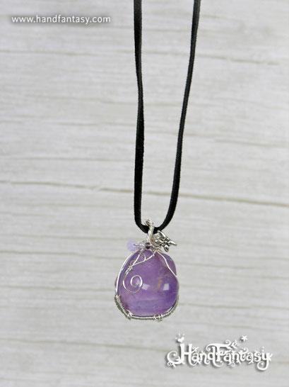 Colgante Amatista, Cuarzo amatista, Piedra violeta, Colgantes de cuarzo, Colgantes de amatista, piedra de Amatista, Collar Amatista