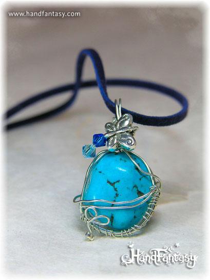 Colgante Turquesa, Piedra azul, Colgante piedra turquesa, collar de Turquesa, Colgantes de Turquesa, piedra de Turquesa, Collar de Turquesa