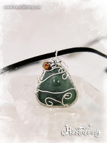 Colgante Aventurina, Piedra verde, Colgantes de aventurina, collar de piedra verde, Colgantes de Aventurina, piedra de Aventurina, Collar de Aventurina