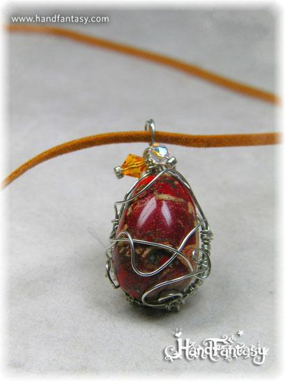 Colgante Jaspe rojo, Piedra preciosa roja, Colgantes de cuarzo, piedra de jaspe, Collar de Jaspe rojo