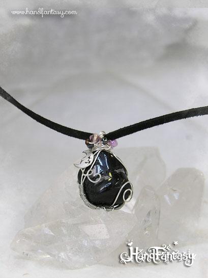 Colgante Turmalina negra, Piedra negra, Colgantes de cuarzo, piedra de Turmalina negra, colgante piedra negra, Collar Turmalina negra