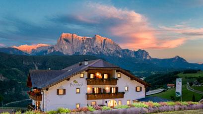Pennhof Aktiv & Bio Urlaub in Südtirol / Blick auf dem Schlern