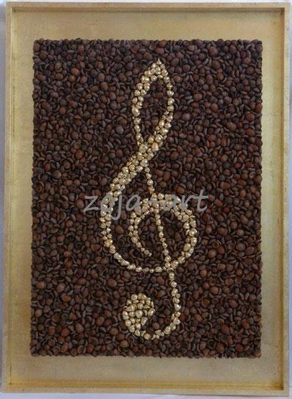 musikalische eicheln vergoldet 81x110 cm