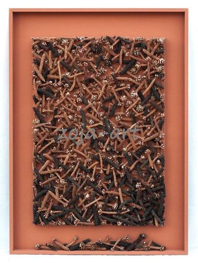 eichhörnchen-tannenzapfen 81x110 cm