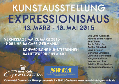 Expressionism in Germany. Workshop and Art Exhibit SWEA Art International. Cochem/Mosel, Germany 2015