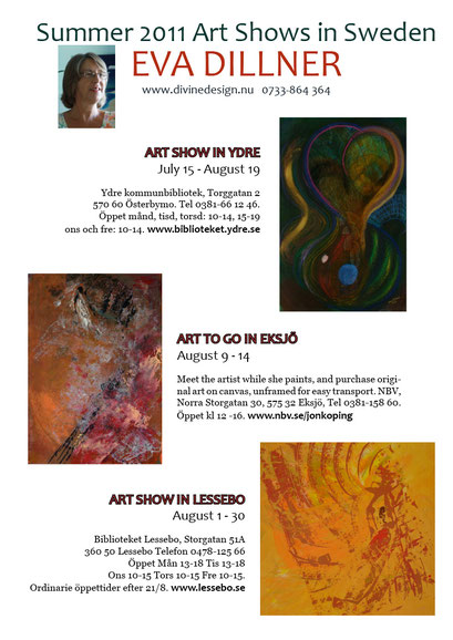 Solo Shows, NBV Art Gallery, Lessebo Art Gallery & Ydre Art Gallery 2011
