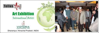 Victoria Continental Inn, Dharampur, India. TellusArt Group Show with artists from Scandinavia, Sri Lanka, Turkey, Iran 2010