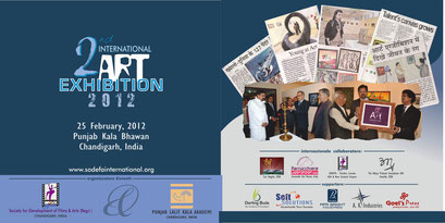 International Art Exhibition SODEFA Group Show with artists from all over the world (by invitation), Chandigarh, India. 2012