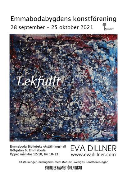LEKFULLT. Utställning med Emmabodabygdens konstförening. 28/9-25/10 2021