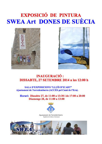 Abstract Expressionism: Workshop and Art Exhibit, SWEA Art International, Torredembarra, Spain. 2014