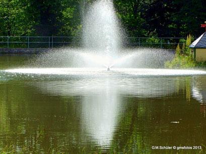 Der Springbrunnen im Park von Benneckenstein