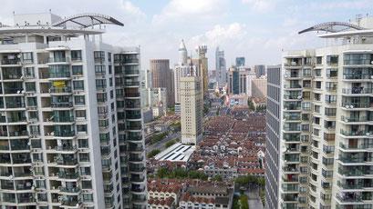 """Shanghai - Blick vom Dach """"meines"""" Hauses"""