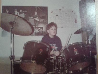Als 10jähriger in Gerhard Seits' (szs mein Mentor) Keller
