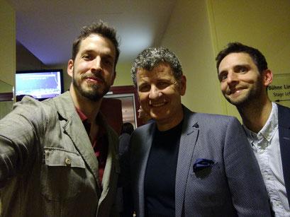 Fuppi, Semino Rossi, Christian Steinkogler backstage im Wiener Konzerthaus