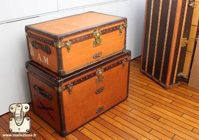 vendre votre malle orange ancienne Louis Vuitton paiement par cheque ou virement