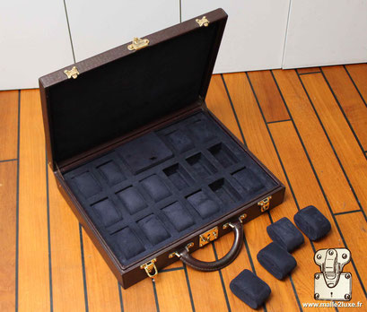 custom leather box Louis Vuitton collection  suitcase watch rolex patek