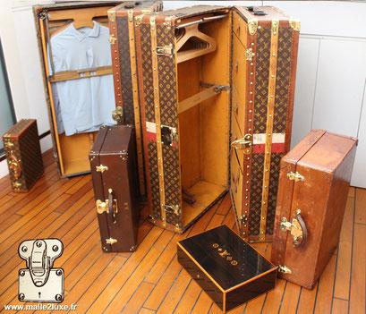 Vendre facilement bagage ancien Louis Vuitton en mauvais etat